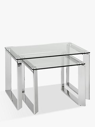 Glass nest of tables john lewis partners john lewis partners tropez nest of 2 tables watchthetrailerfo