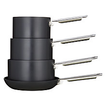 Buy John Lewis Hard Anodised Aluminium Pan Set, 4 Pieces Online at johnlewis.com
