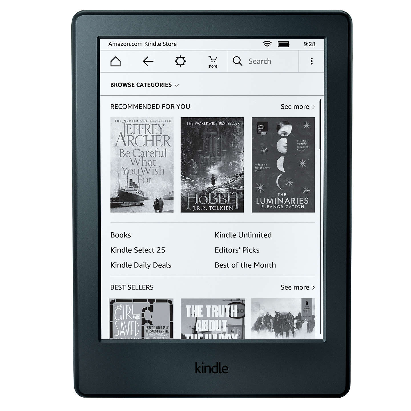 "BuyAmazon Kindle eReader, 6"", Wi-Fi, Black Online at johnlewis.com"