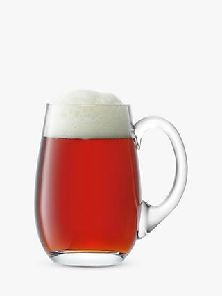 LSA International Glass Beer Tankard, Clear, 750ml