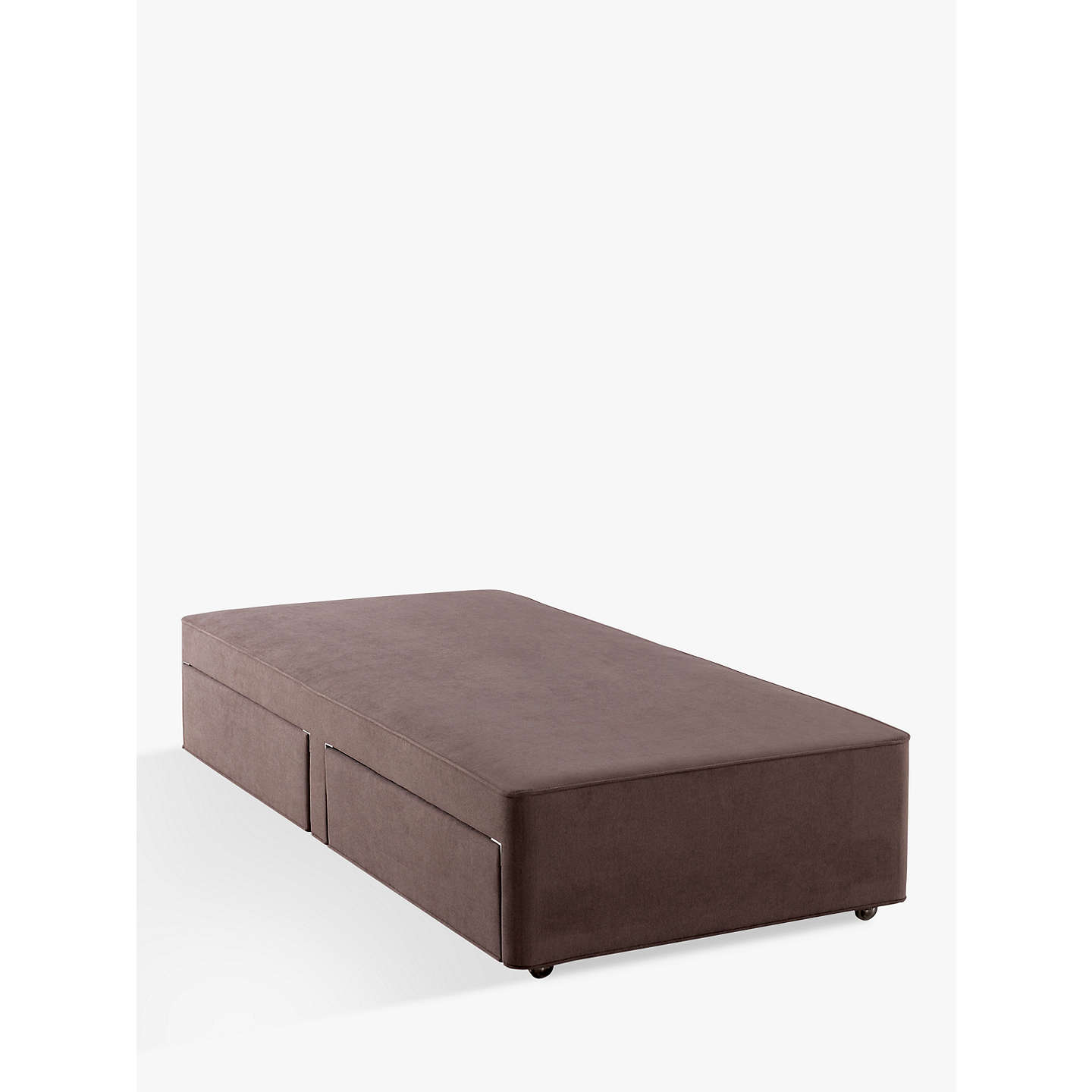 Hypnos firm edge 2 drawer divan storage bed single at for Divan john lewis
