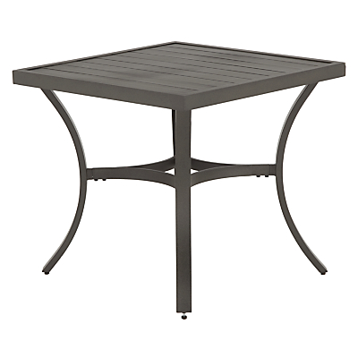 John Lewis Marlow Aluminium 4 Seater Dining Table, Black/Grey