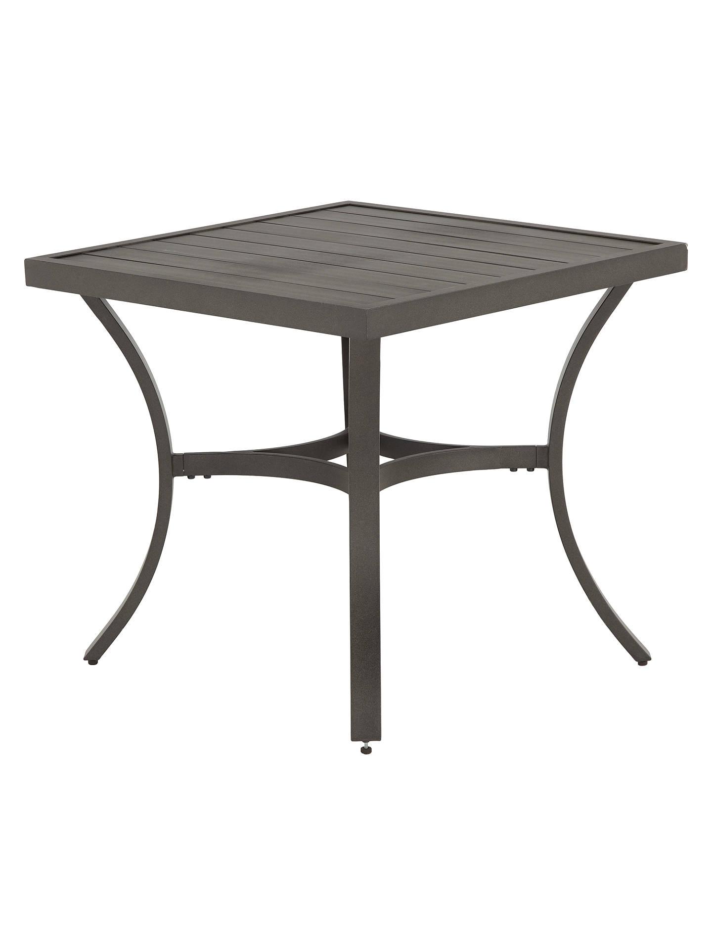 Buy john lewis partners marlow aluminium 4 seater garden dining table black grey