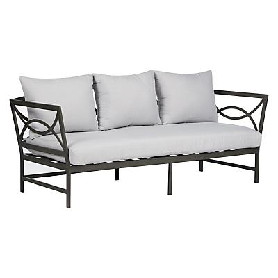 John Lewis Marlow Aluminium 3 Seater Sofa, Black / Grey