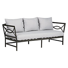 Buy John Lewis Marlow Aluminium 3 Seater Sofa, Black / Grey Online at johnlewis.com