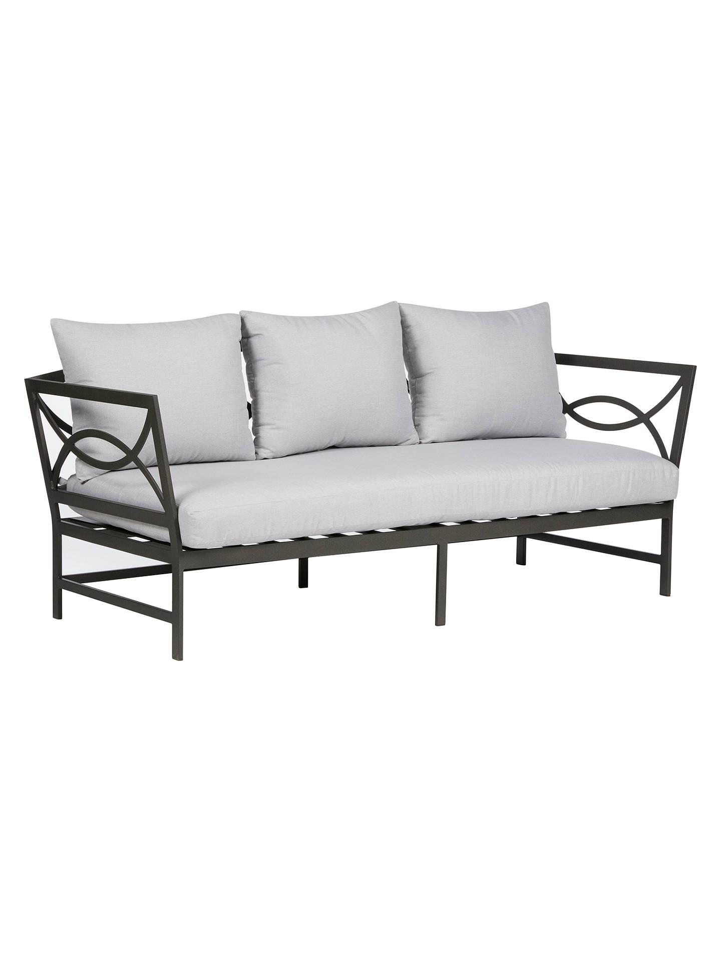 Buyjohn lewis partners marlow aluminium 3 seater sofa black grey online at johnlewis