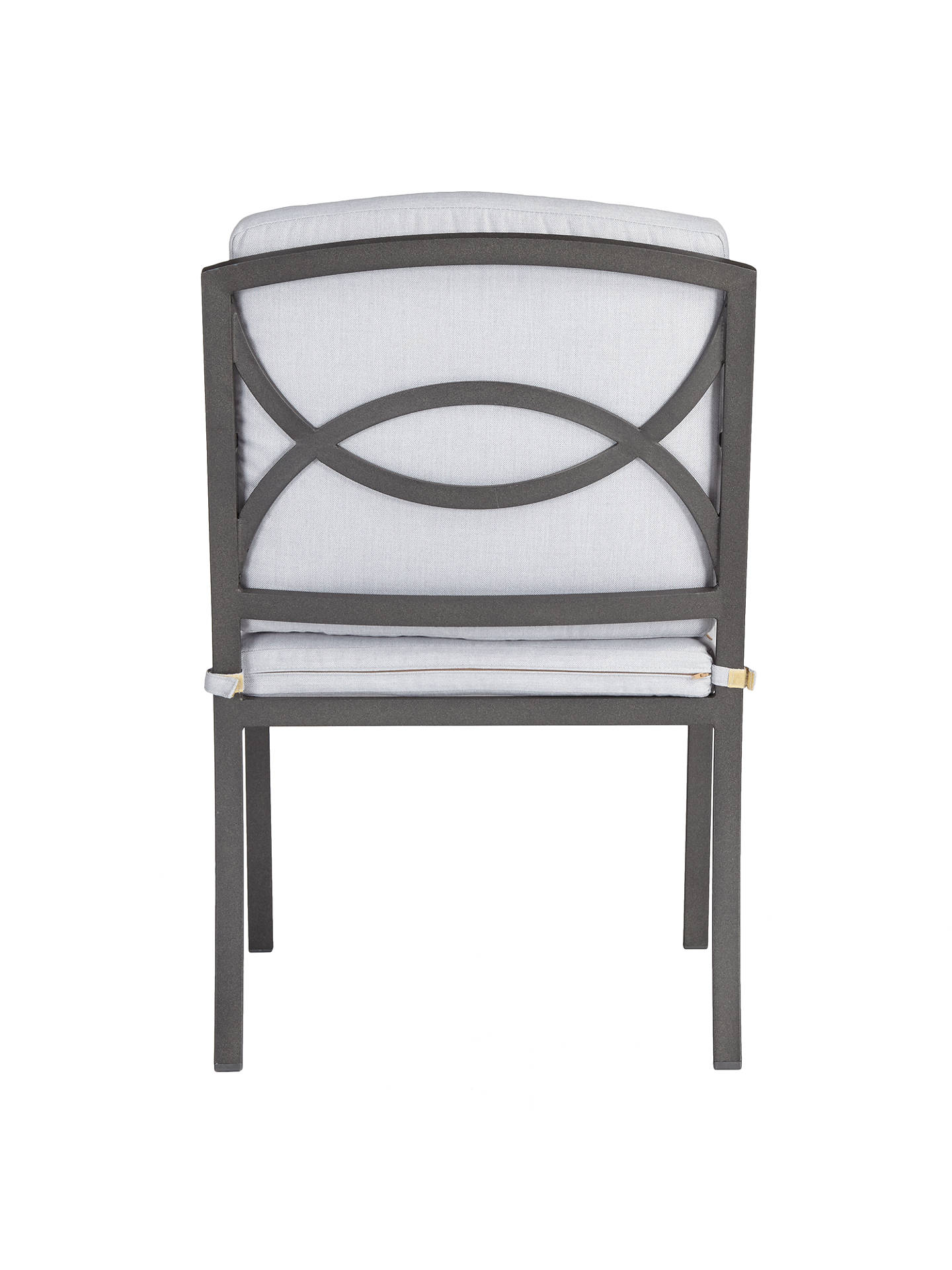 Buy John Lewis & Partners Marlow Aluminium Garden Dining Armchair, Set of 2, Black/Grey Online at johnlewis.com