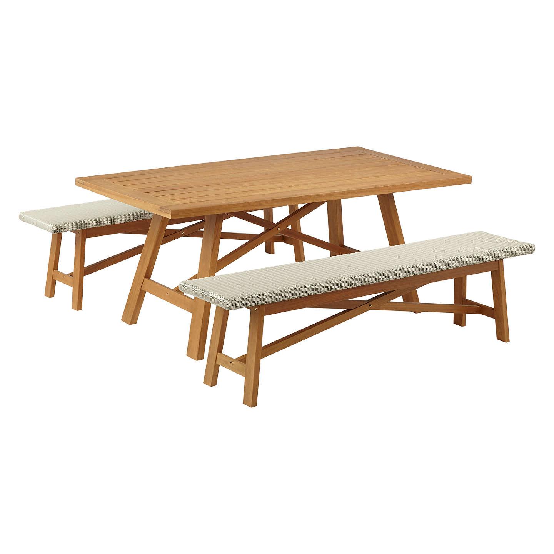John lewis stockholm 6 seater garden dining table bench for John lewis chinese furniture