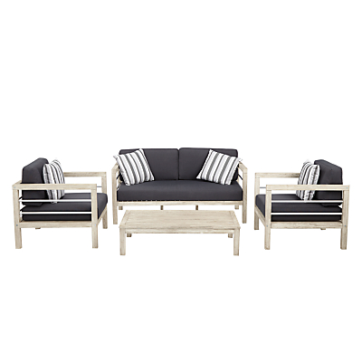 John Lewis Atlantic Outdoor 4-Seater Lounge Set, FSC-Certified (Acacia), Grey