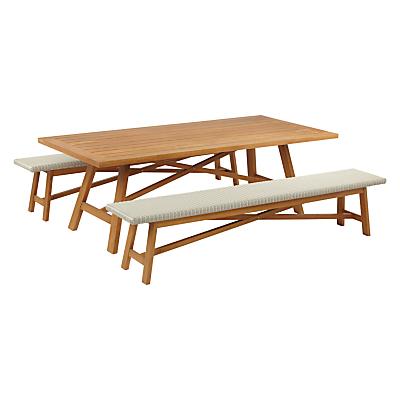 John Lewis Stockholm 8 - 10 Seater Dining Table & Bench Set, FSC-Certified (Eucalyptus), Natural