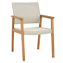 Buy John Lewis Stockholm Outdoor Dining Armchairs, FSC-Certified (Eucalyptus), Pair, Natural Online at johnlewis.com