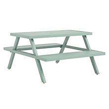 Buy John Lewis Aluminium Picnic Bench, Sage Online at johnlewis.com