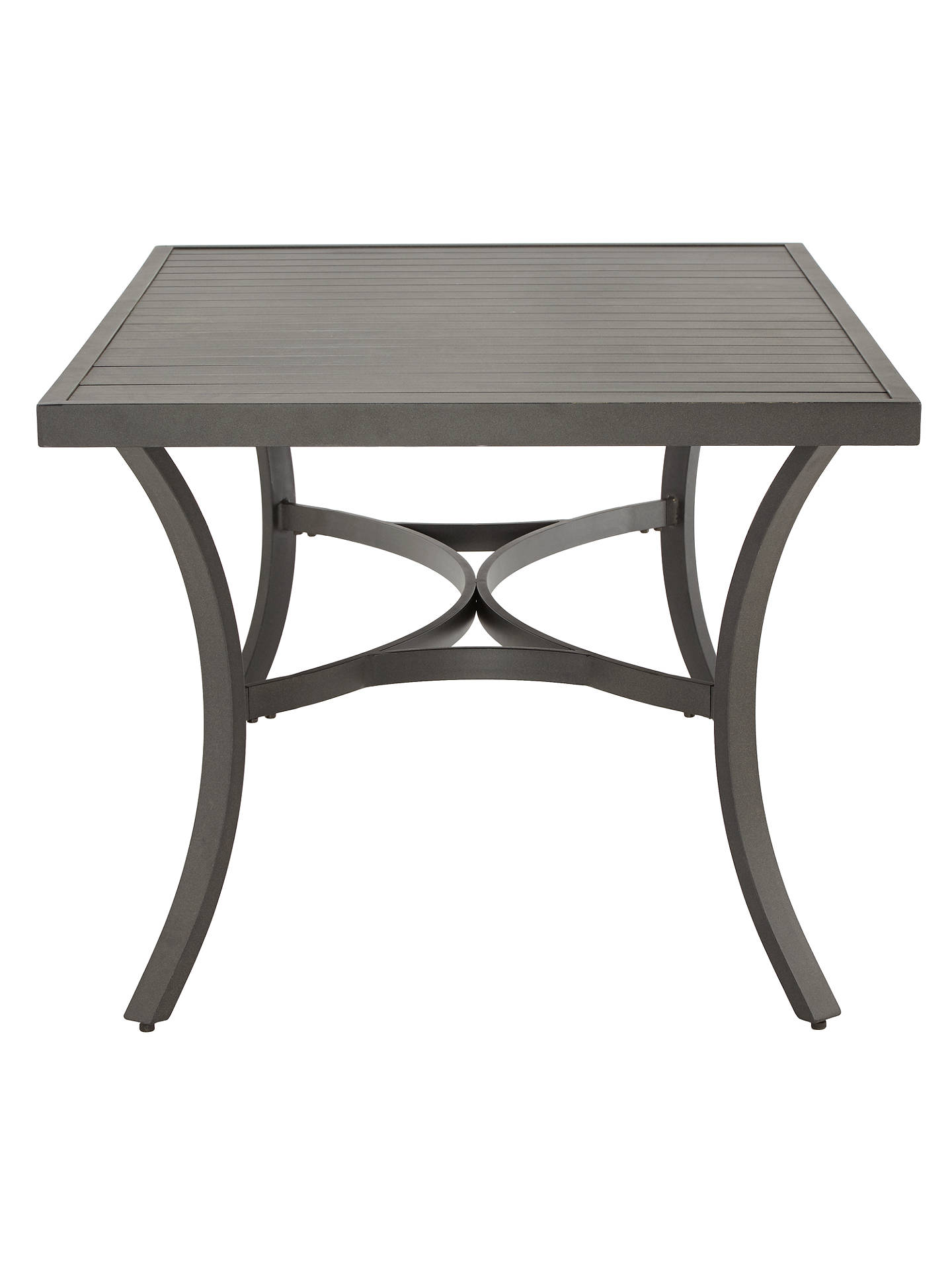 Buy John Lewis & Partners Marlow Aluminium 6 Seater Garden Dining Table, Black/Grey Online at johnlewis.com