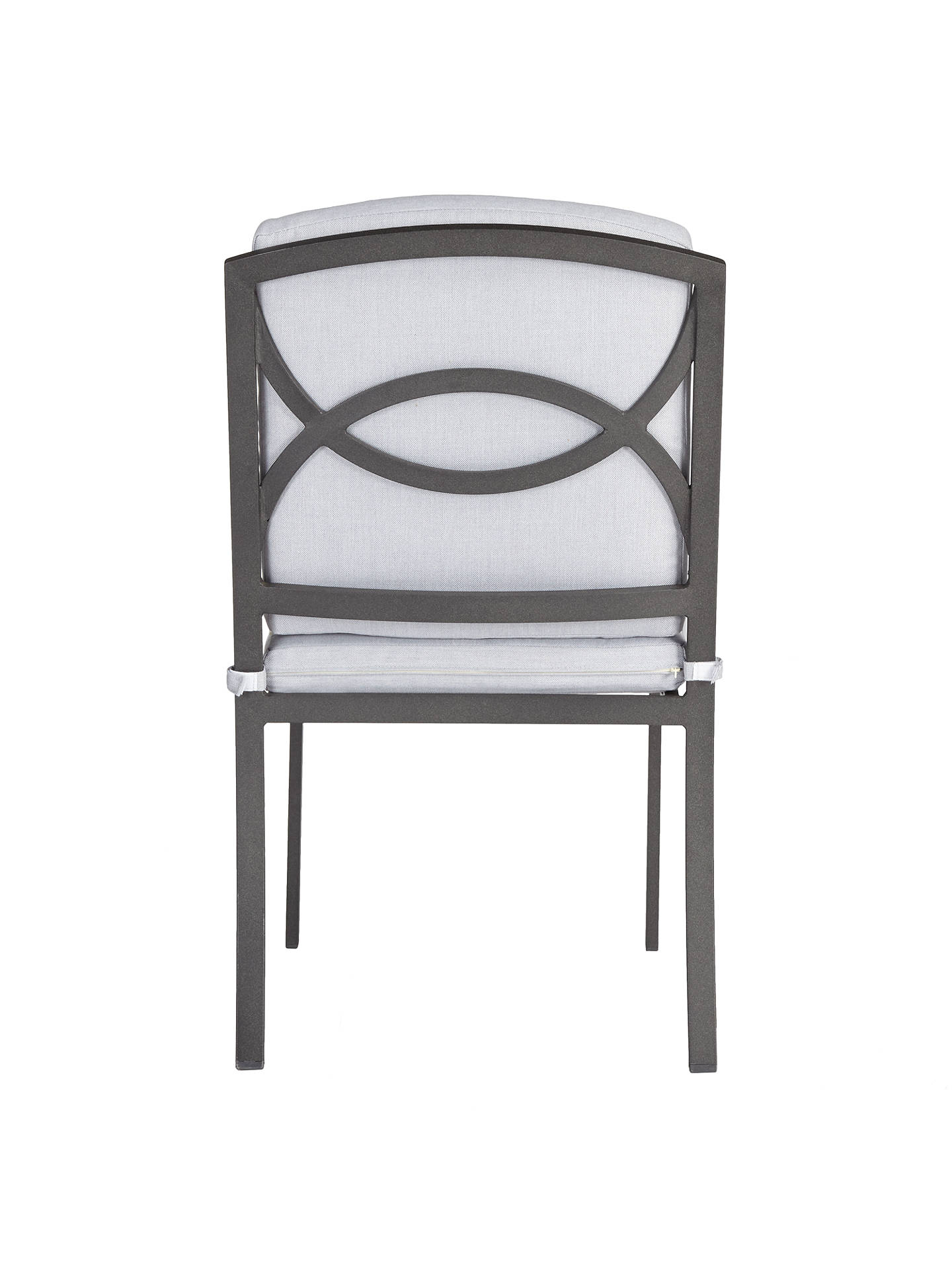 BuyJohn Lewis & Partners Marlow Aluminium Dining Side Chairs, Black/Grey, Set of 2 Online at johnlewis.com