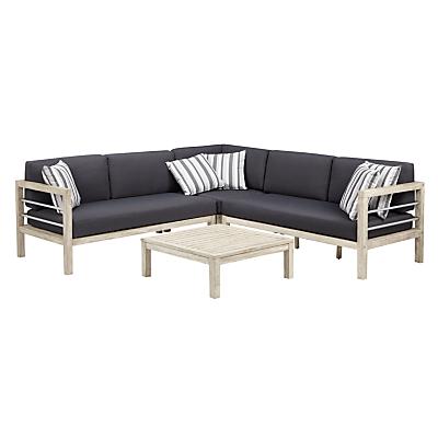 John Lewis Atlantic 4-Seater Modular Sofa Set, FSC-Certified (Acacia), Grey