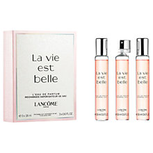 Buy Lancôme La Vie Est Belle Purse Spray Refills, 3 x 18ml Online at johnlewis.com