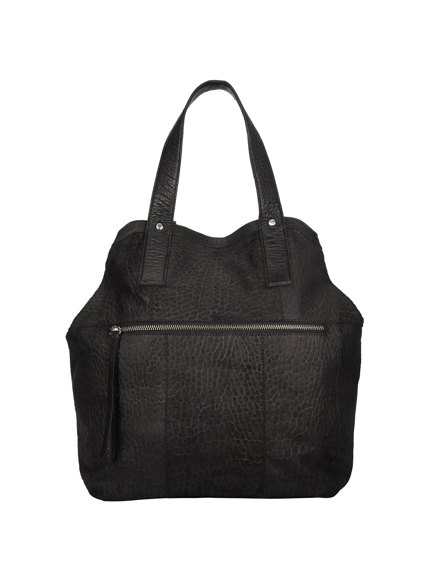 Pieces Paula Suede Tote Bag Black Online At Johnlewis