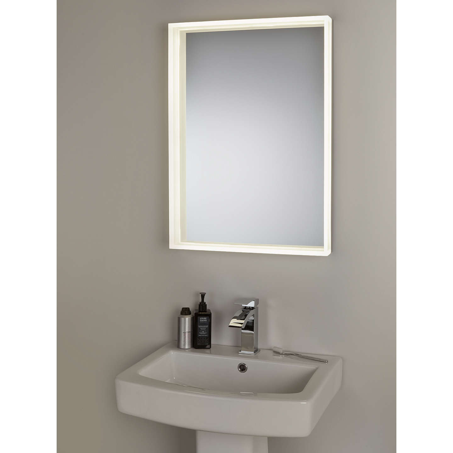 john lewis led prism illuminated bathroom mirror at john lewis. Black Bedroom Furniture Sets. Home Design Ideas