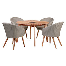 Buy John Lewis Sol 4 Seater Round Dining Table & Chairs Set, FSC-Certified (Eucalyptus), Natural Online at johnlewis.com
