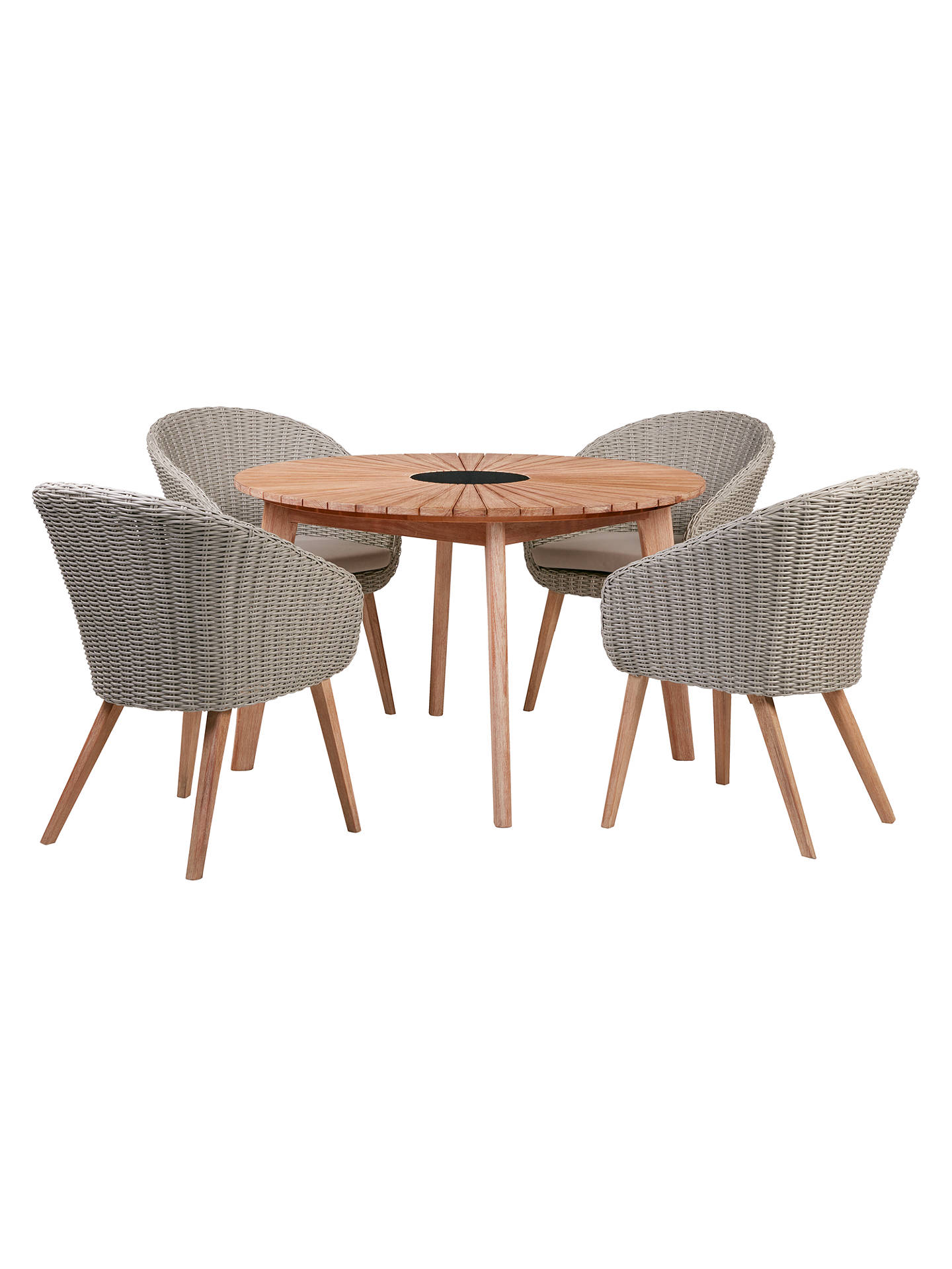 Buyjohn lewis partners sol 4 seater round garden dining table chairs set fsc