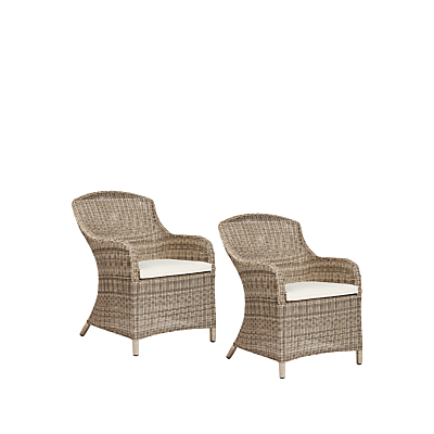 John Lewis Dante Deluxe Outdoor Dining Armchair, Set of 2