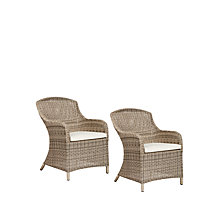 Buy John Lewis Dante Deluxe Outdoor Dining Armchair, Set of 2 Online at johnlewis.com