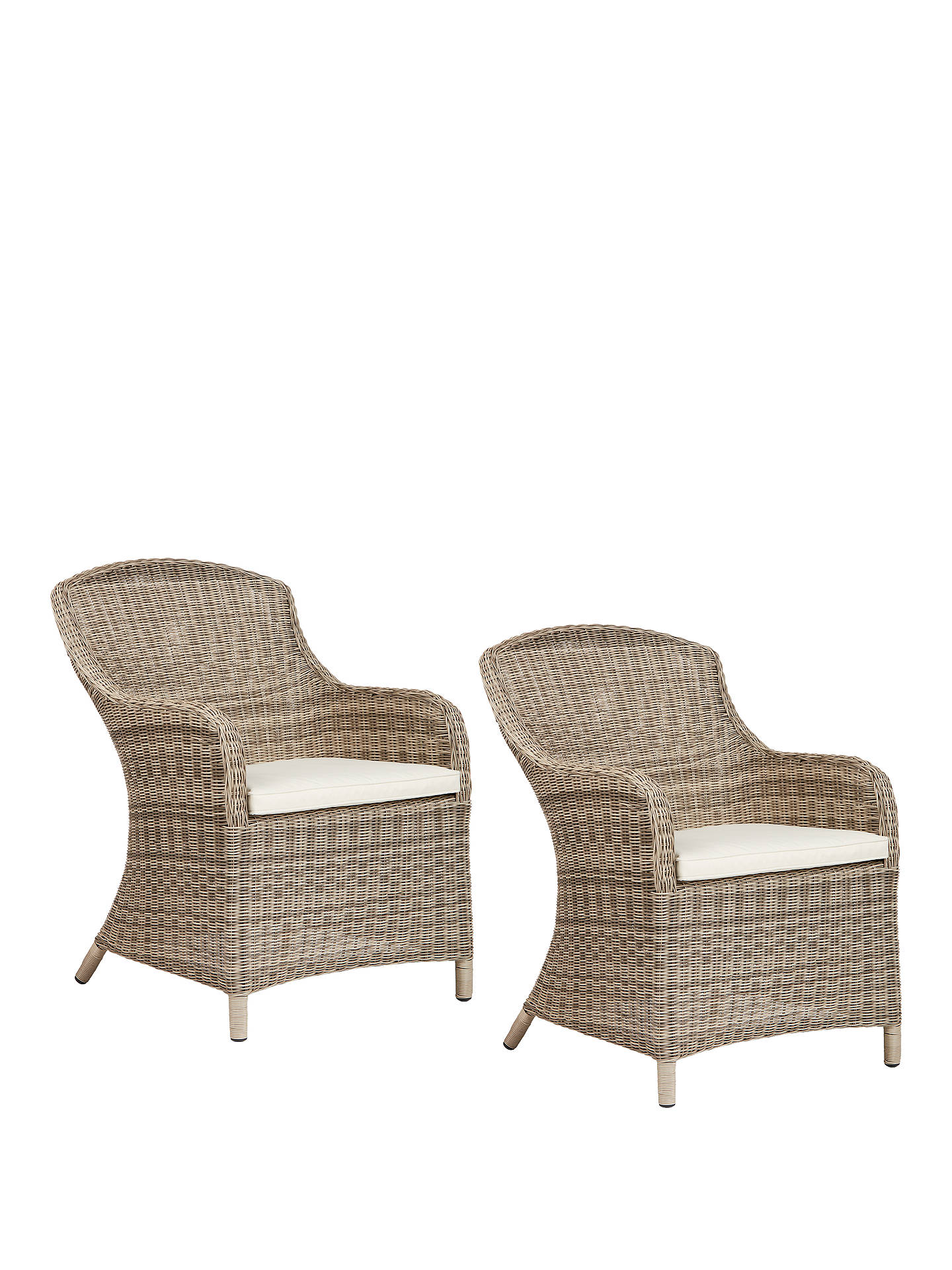 BuyJohn Lewis & Partners Dante Deluxe Outdoor Dining Armchair, Set of 2, Natural Online at johnlewis.com