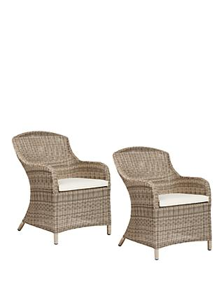 John Lewis & Partners Dante Deluxe Dining Armchair, Set of 2