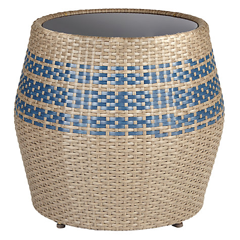 Buy John Lewis Havana Glass-Top Table / Stool, Brown / Blue Online at johnlewis.com