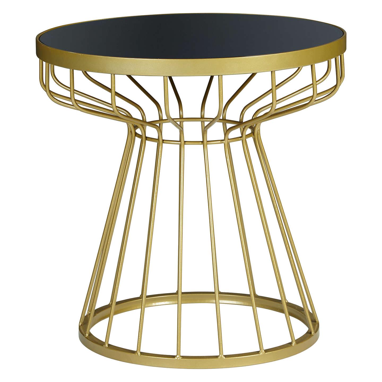john lewis havana glass top side table brass navy at. Black Bedroom Furniture Sets. Home Design Ideas