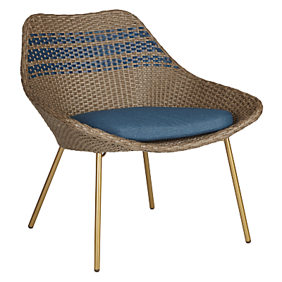 John Lewis Havana Lounging Armchair, Brown / Blue