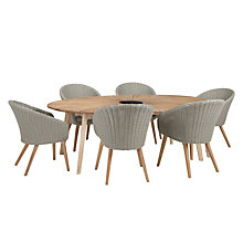 Buy John Lewis Sol 6 Seater Oval Dining Table & Chairs Set, FSC-Certified (Eucalyptus), Natural Online at johnlewis.com