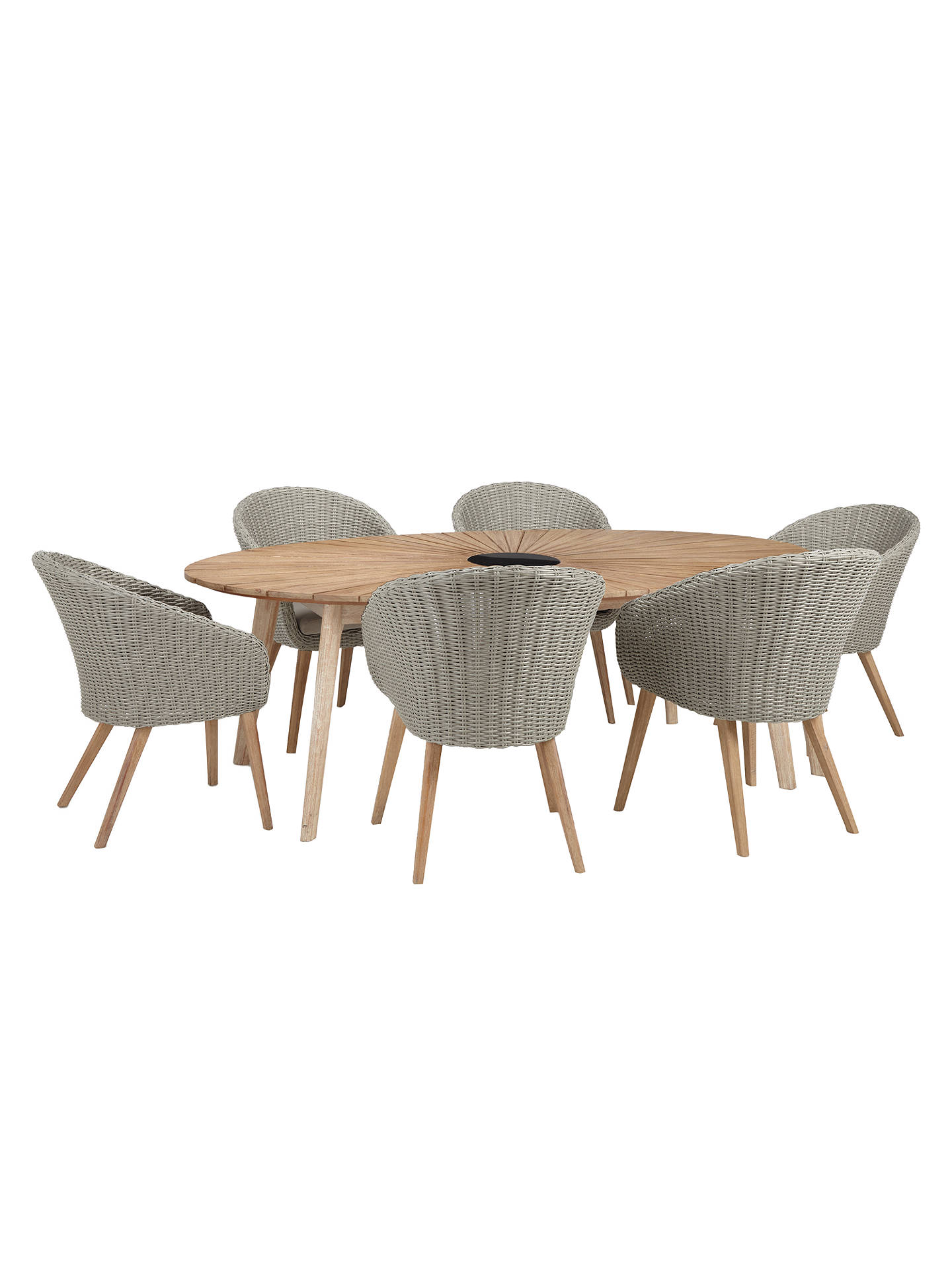 Buyjohn lewis partners sol 6 seater oval garden dining table chairs set fsc