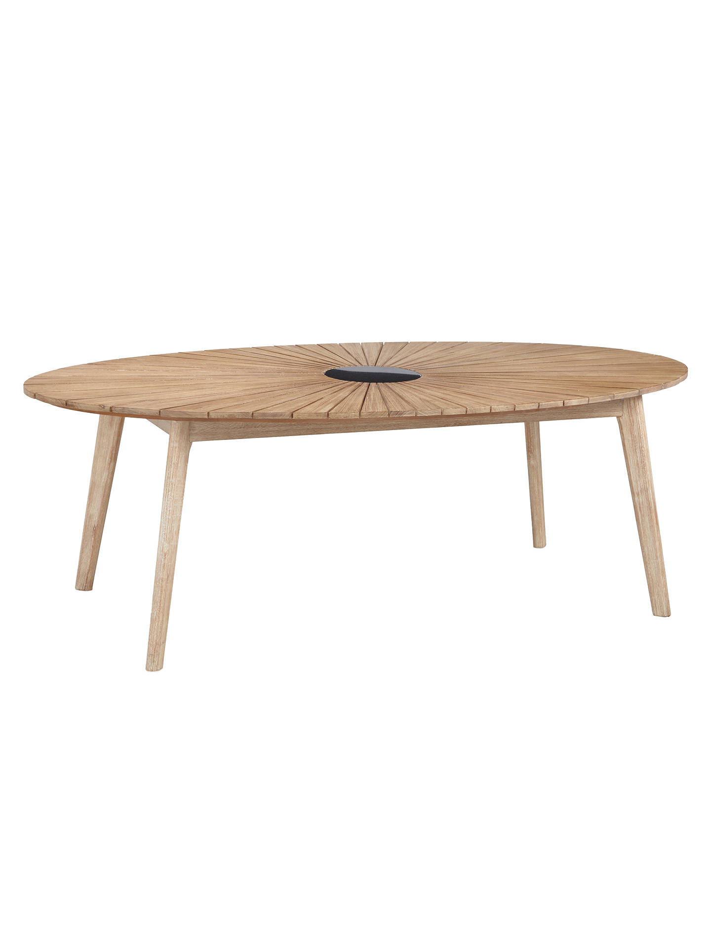 BuyJohn Lewis & Partners Sol 6 Seater Oval Garden Dining Table & Chairs Set, FSC-Certified (Eucalyptus), Natural Online at johnlewis.com