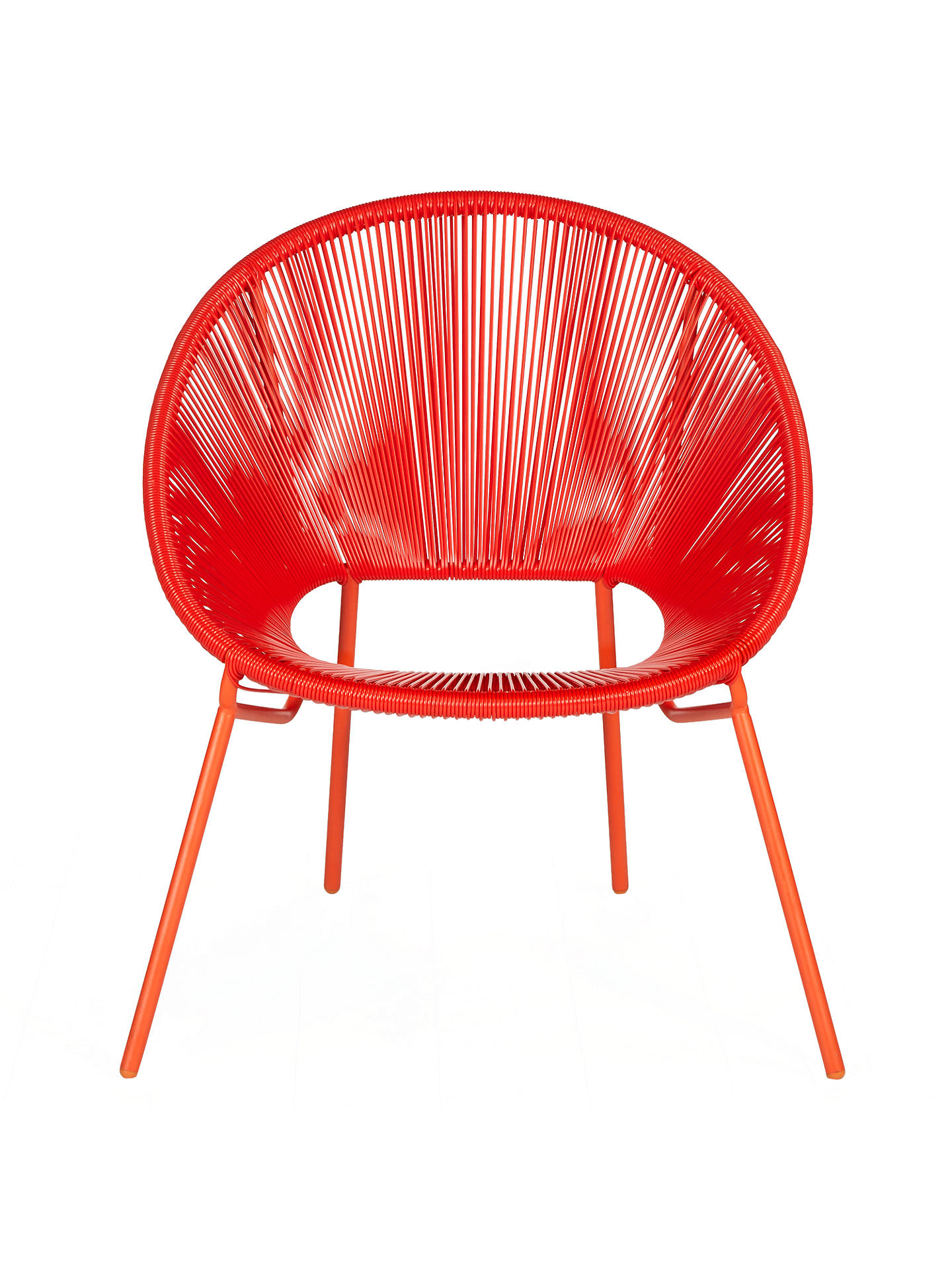 Buy House by John Lewis Salsa Garden Chair, Set of 2, Chilli Online at johnlewis.com