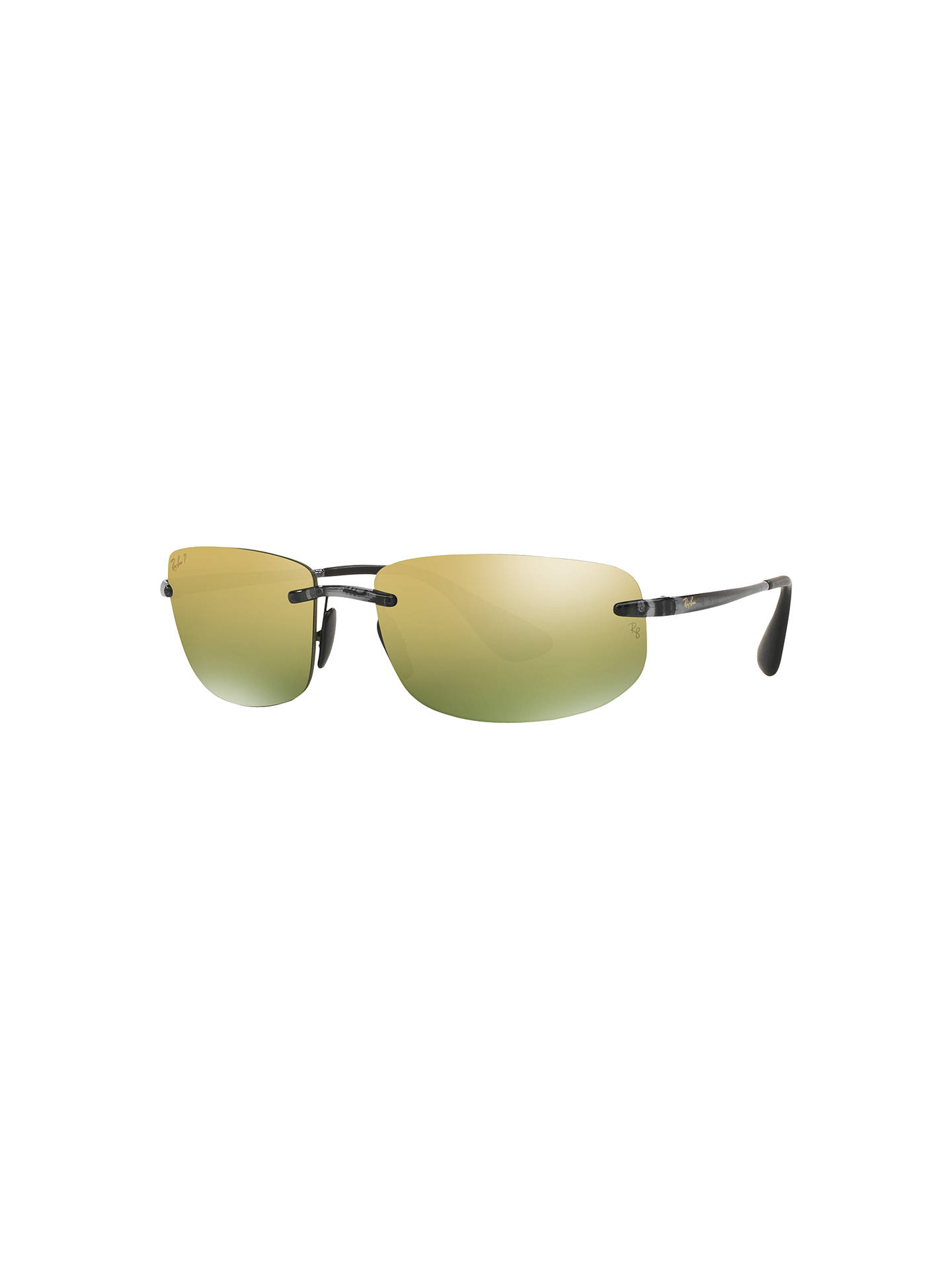 a7242558d0 Ray-Ban RB4254 Chromance Polarised Rectangular Sunglasses at John ...