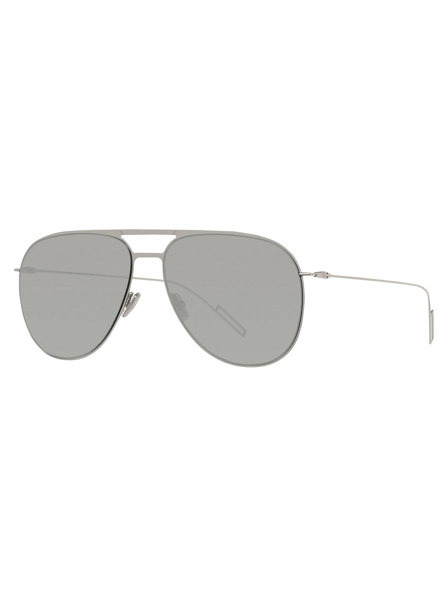 21a53c1acf45 Buy Dior Dior0205S Aviator Sunglasses, Silver/Grey Online at johnlewis.com  ...