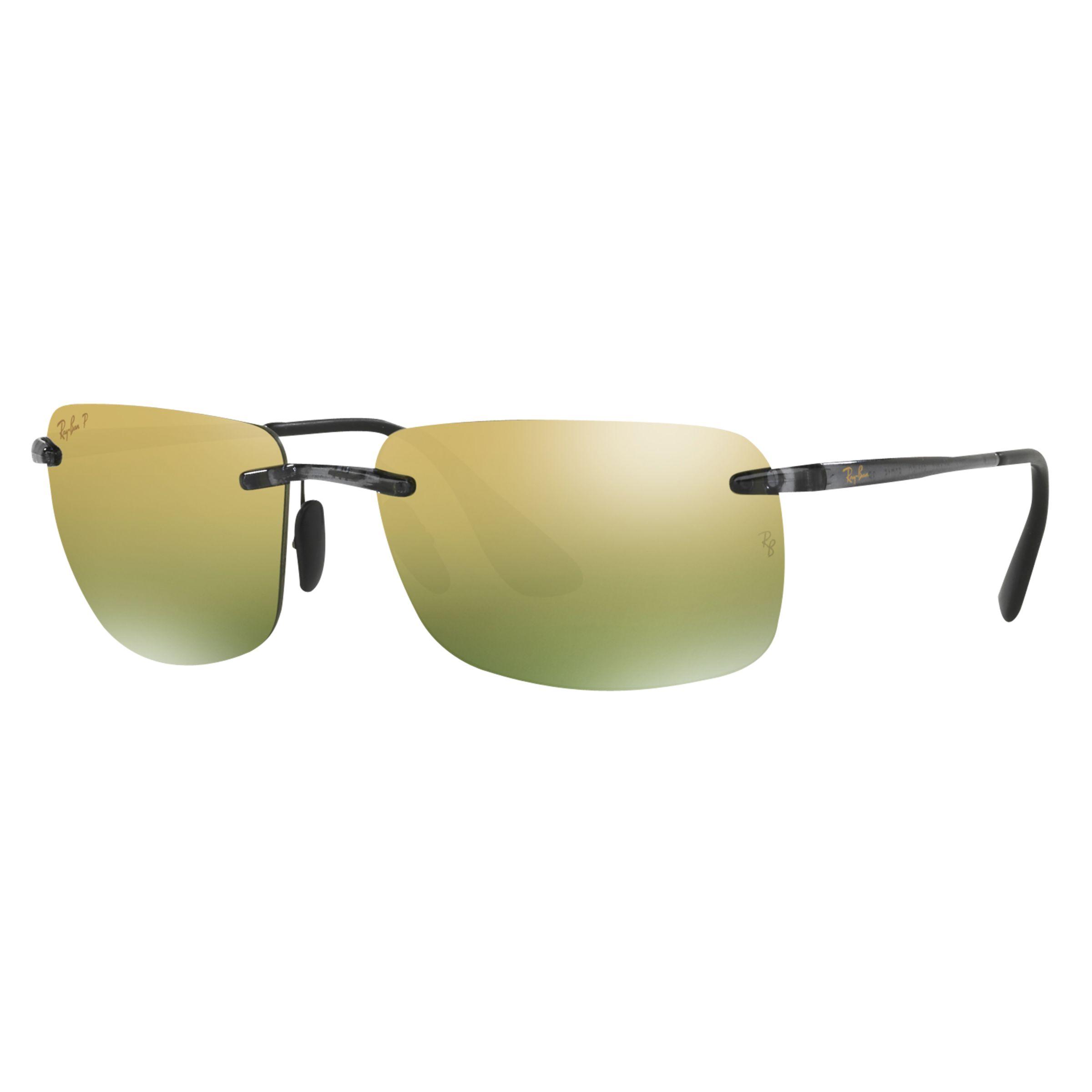 7e0f39629 Ray-Ban RB4255 Polarised Chromance Rectangular Sunglasses at John Lewis &  Partners