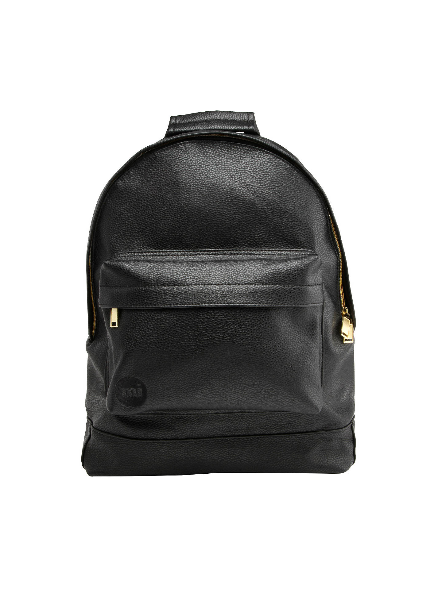 3613dca4692d BuyMi-Pac Gold Tumbled Backpack, Black Online at johnlewis.com ...
