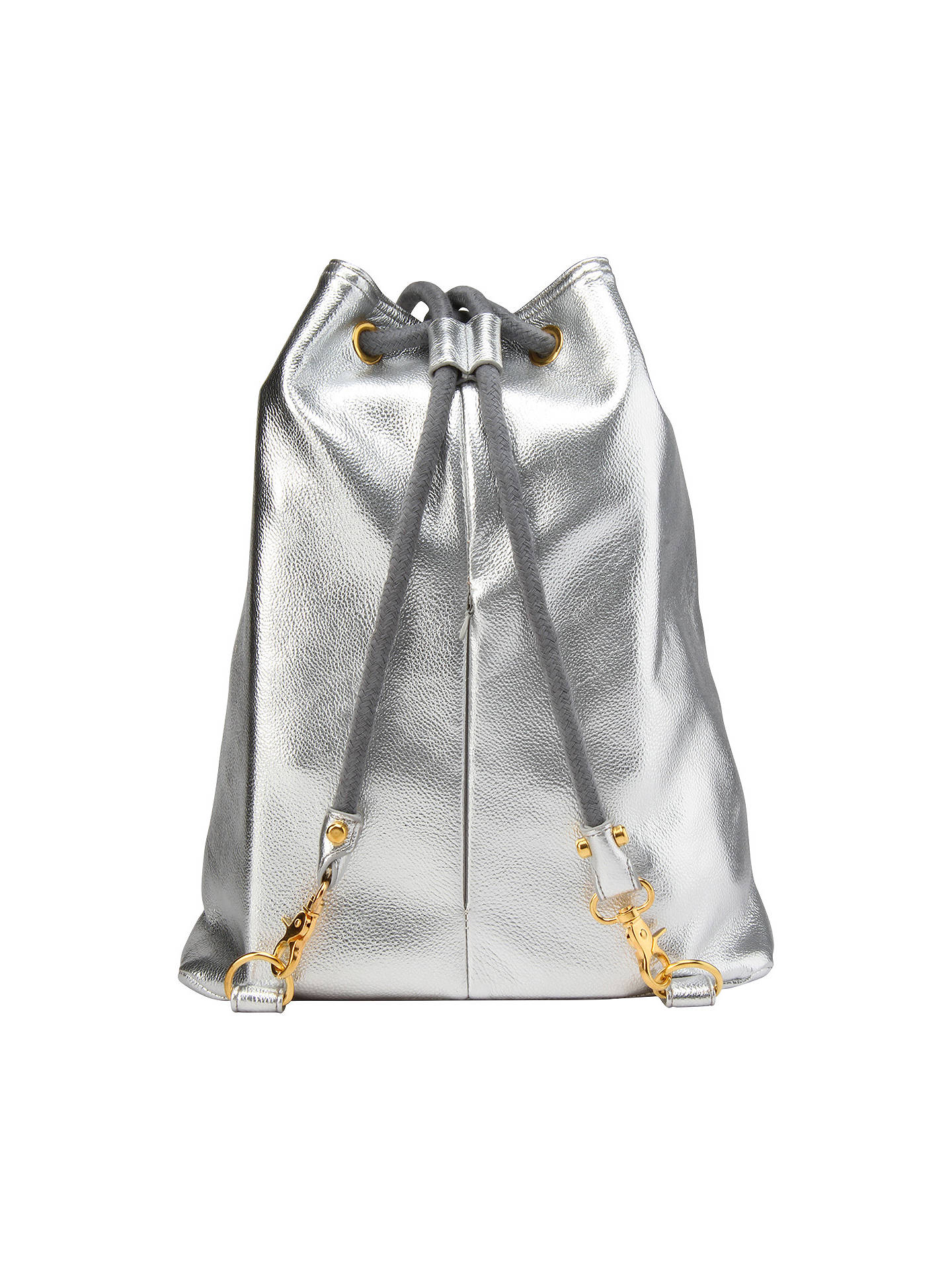 BuyMi-Pac Gold Metallic Swing Backpack, Silver Online at johnlewis.com