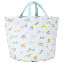 Buy John Lewis Farmyard Print Storage Basket, White/Multi Online at johnlewis.com