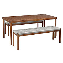 Buy Design Project by John Lewis No.096 Dining Table & 2 Dining Benches, FSC-Certified (Acacia), Natural Online at johnlewis.com