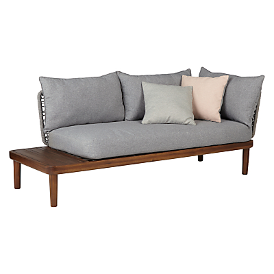 Design Project by John Lewis No.096 Lounging Chaise With Table, FSC-Certified (Acacia)