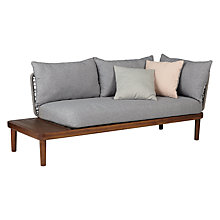 Buy Design Project by John Lewis No.096 Lounging Chaise With Table, FSC-Certified (Acacia) Online at johnlewis.com