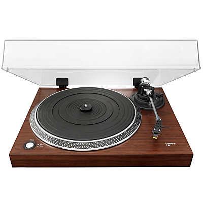 Lenco L-90 USB Two Speed Wooden Turntable With Walnut Veneer