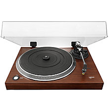Buy Lenco L-90 USB Two Speed Wooden Turntable With Walnut Veneer Online at johnlewis.com