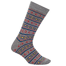 Buy Yamato Fair Isle Socks, One Size, Grey Online at johnlewis.com