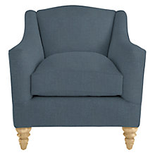 Buy John Lewis Melrose Armchair, Oak Legs, Darwen Loch Blue Online at johnlewis.com