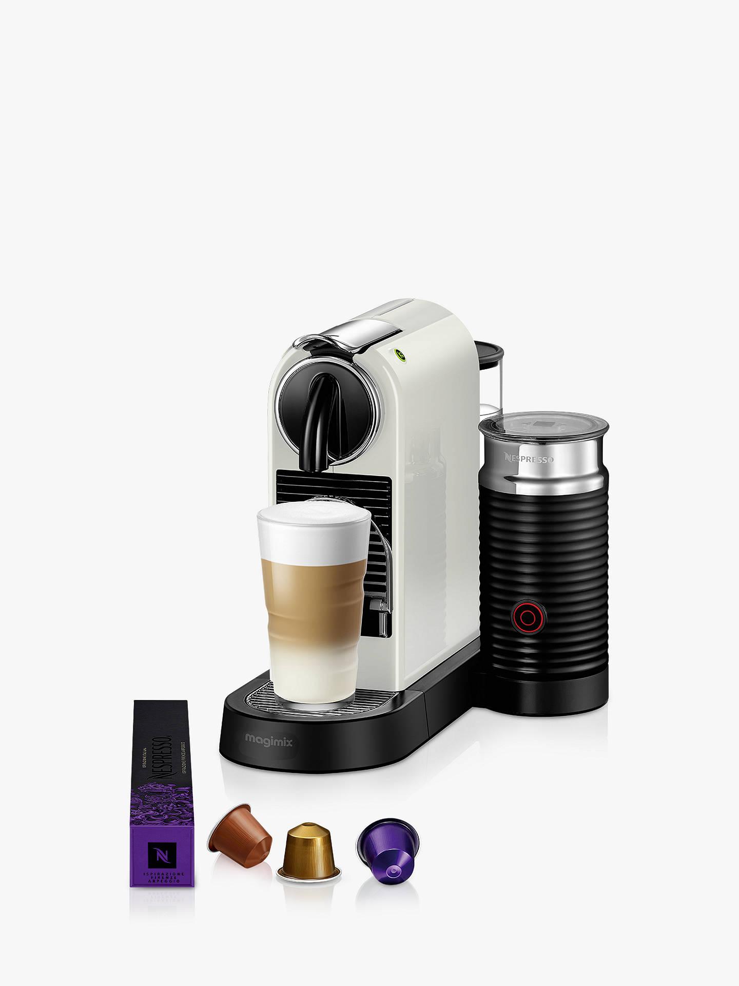 Nespresso Citiz Milk Coffee Machine By Magimix White