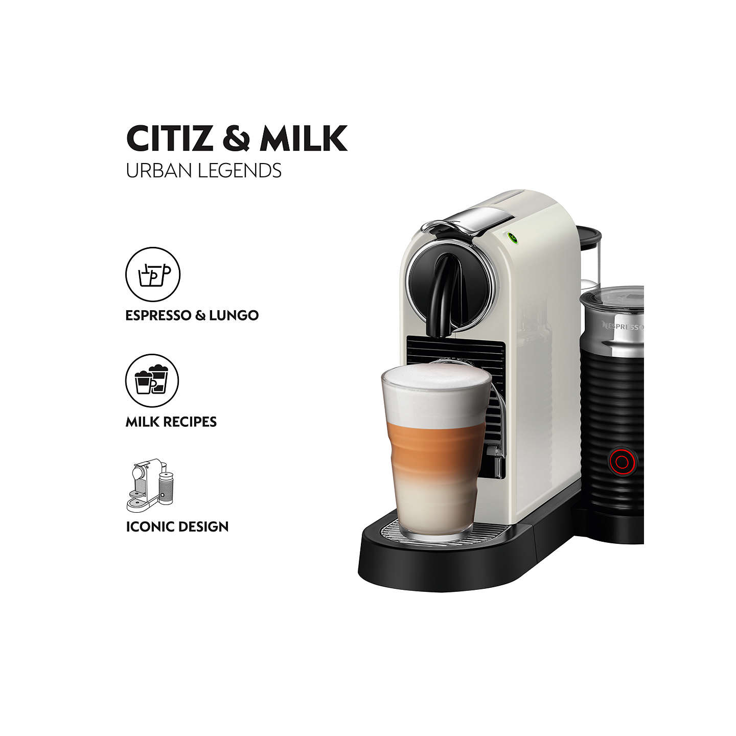 nespresso citiz milk coffee machine by magimix at john lewis. Black Bedroom Furniture Sets. Home Design Ideas